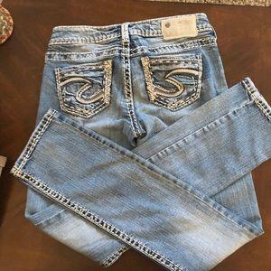 Silver Skinny Jeans